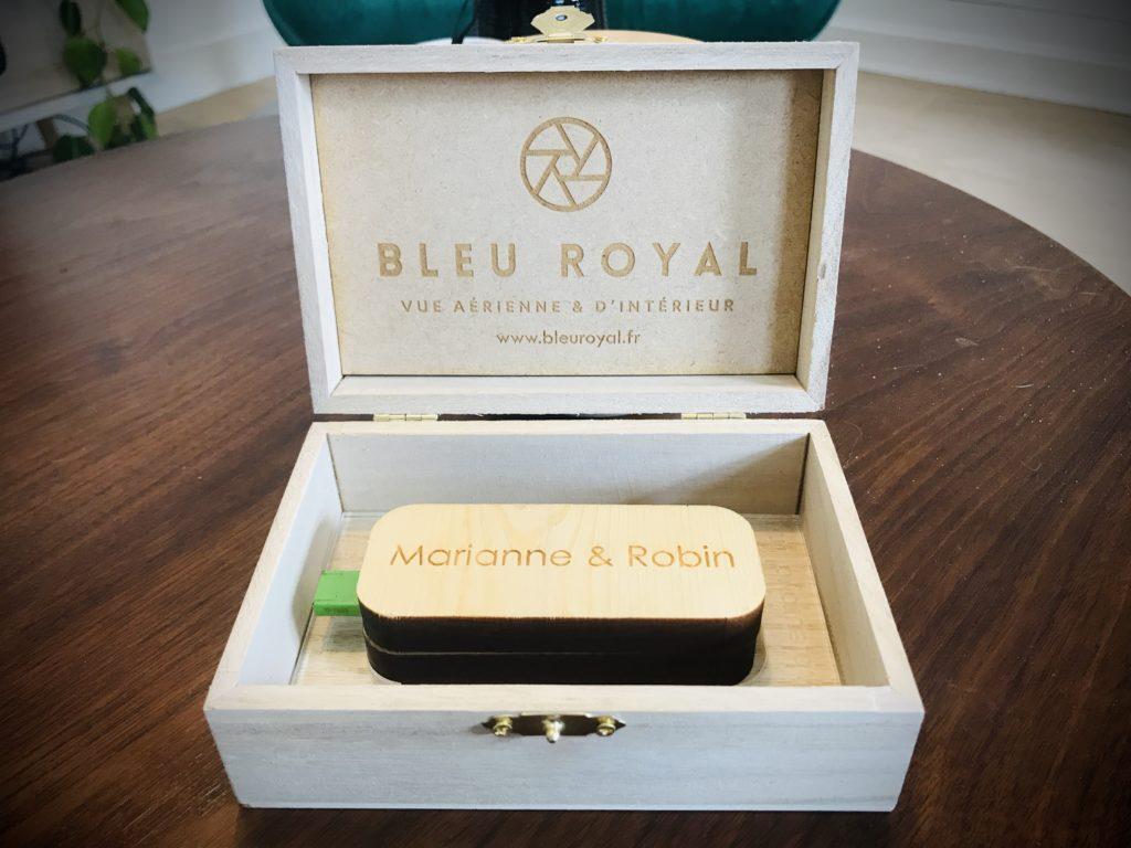 Boîte mariage Bleu Royal - Vidéo mariage Nord