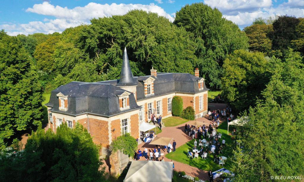 photo drone chateau premesques - Vidéo mariage Nord