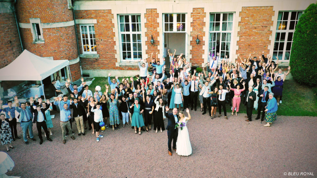 photo drone mariage
