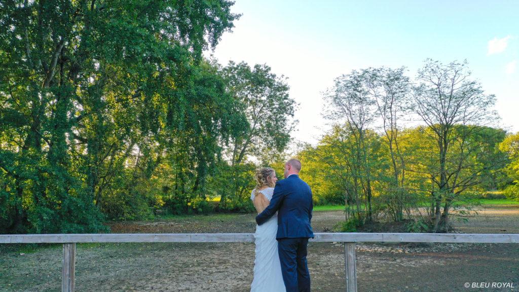 photo drone mariés parc - Vidéo mariage Nord
