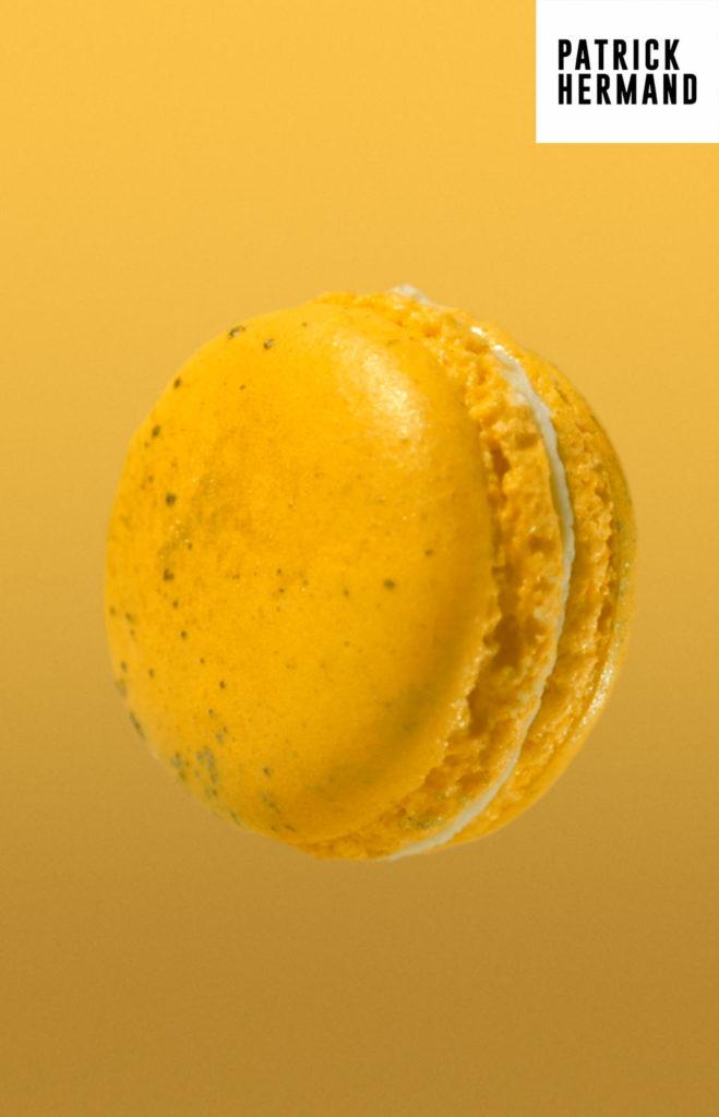 macaron jaune patrick hermand